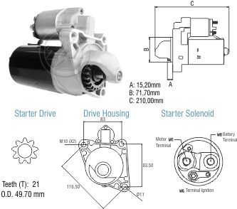 Motor De Partida Zm MP-ZM8011004