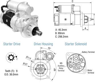 Motor De Partida Zm MP-ZM8029001