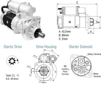 Motor De Partida Zm MP-ZM8029101