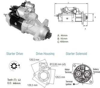 Motor De Partida Zm MP-ZM8038001