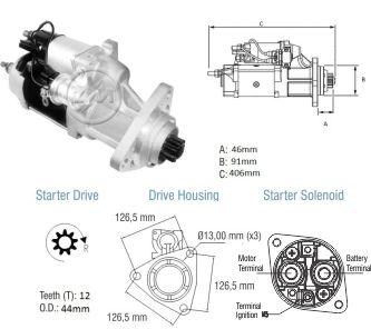 Motor De Partida Zm MP-ZM8038003