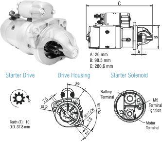 Motor De Partida Zm MP-ZM8048005