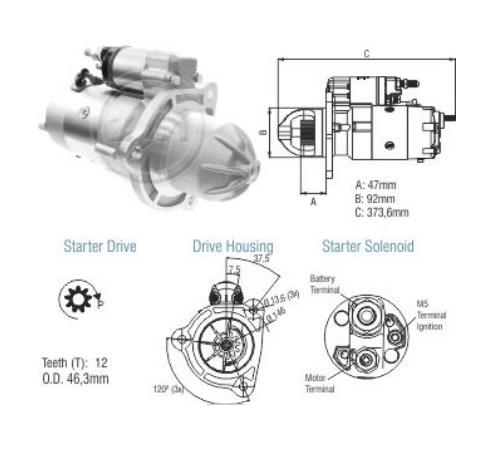 Motor De Partida Zm MP-ZM8048103