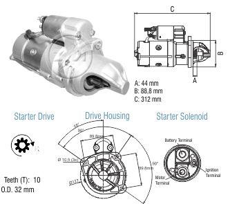 Motor De Partida Zm MP-ZM8048505