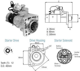 Motor De Partida Zm MP-ZM8089004